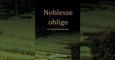 Het nieuwe boek van Bastiaan Jan Buitendijk, 'Noblesse oblige'