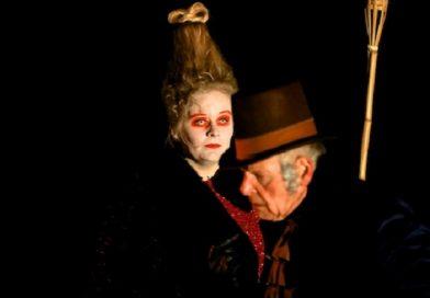 Scrooge in openluchttheater in Den Haag